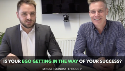 Ego and success in business. Lewis Haydon and Andy Hemming Mindset Monday Friday Review Business Coach Black COuntry UK